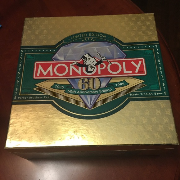 Rare 1995 60th anniversary edition monopoly game